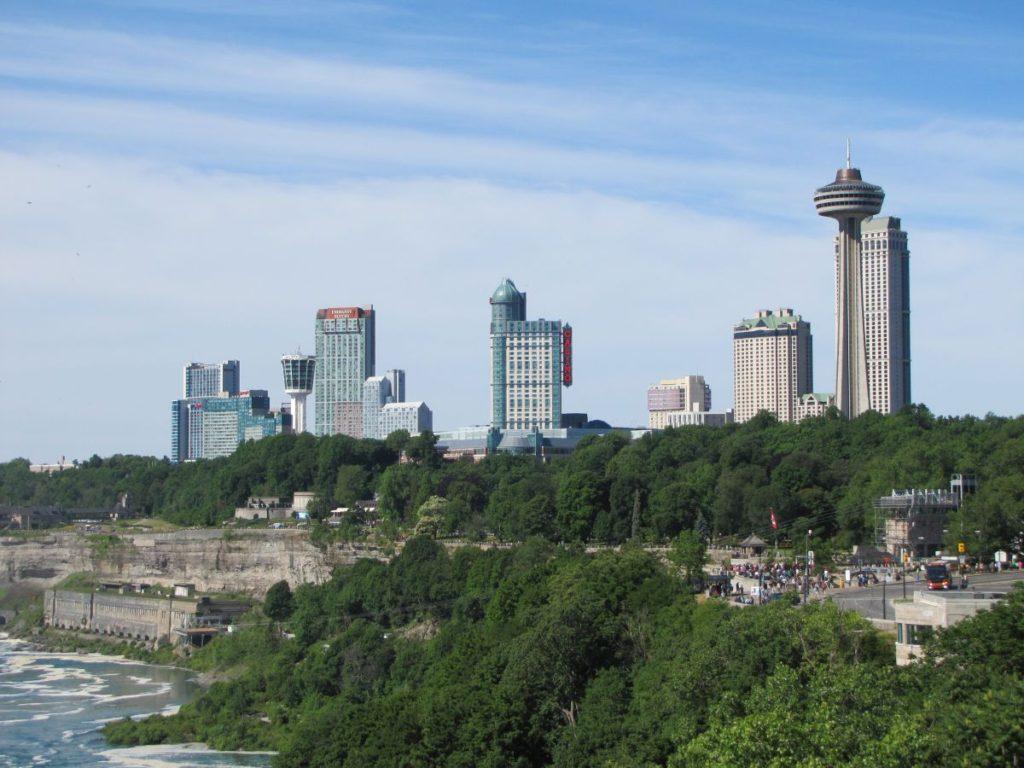 Canada siden set fra Rainbow Bridge