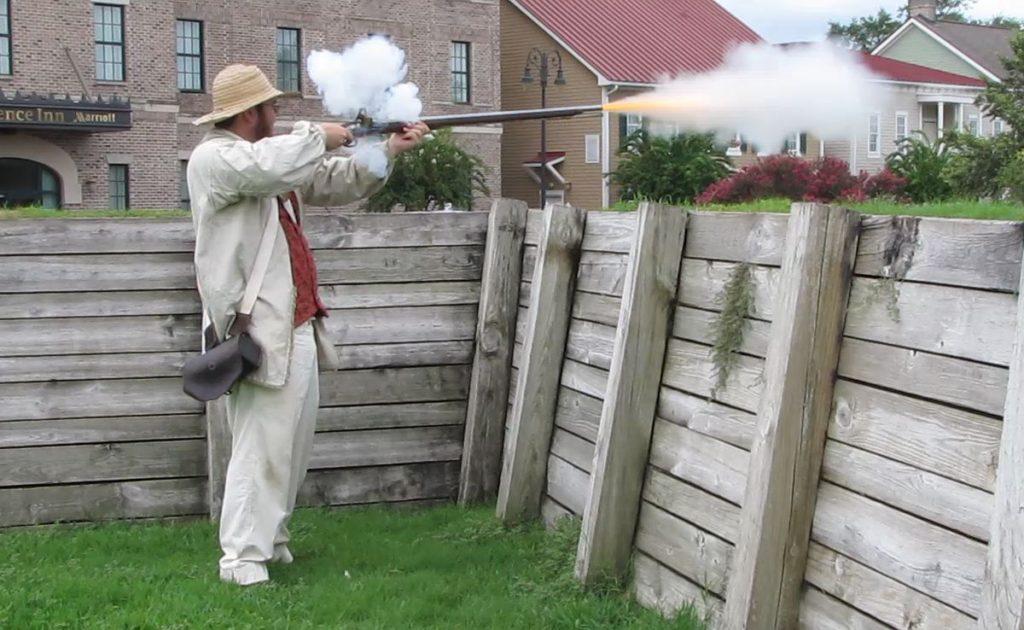 Affyring af en musket